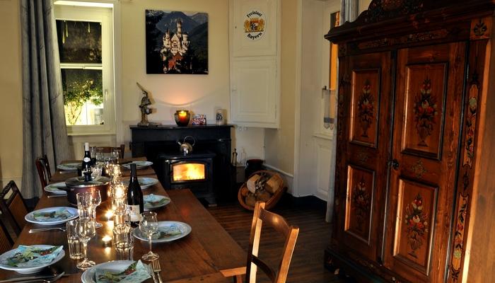 Bavière et volcan en Beaujolais, gîte Beaujolais, chambre d'hôtes Beaujolais, la maison de Vacances, la cuisine bavaroise
