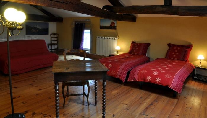 Bavière et volcan en Beaujolais, gîte Beaujolais, chambre d'hôtes Beaujolais, la maison de Vacances, le loft