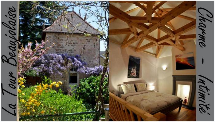 Gîte beaujolais, chambre d'hôte beaujolais, maison hote beaujolais, charme,  la tour beaujolaise romantique
